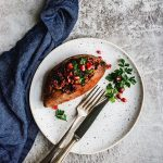 Hearty Lentil Walnut Stuffed Sweet Potatoes