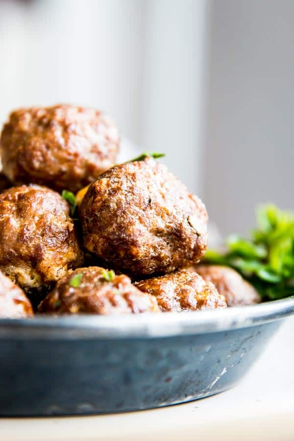 Oven Baked Meatballs Recipe Savory Nothings