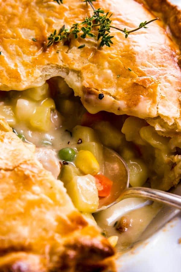 Chicken pot pie filling.