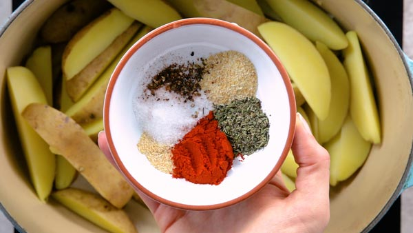 Spices for baked potato wedges