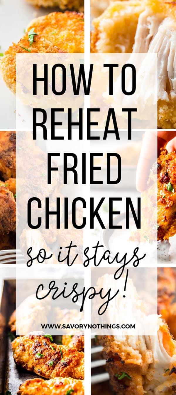 Pinterest Image for How To Reheat Fried Chicken in the Oven