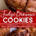 Brownie Cookies Image Pin