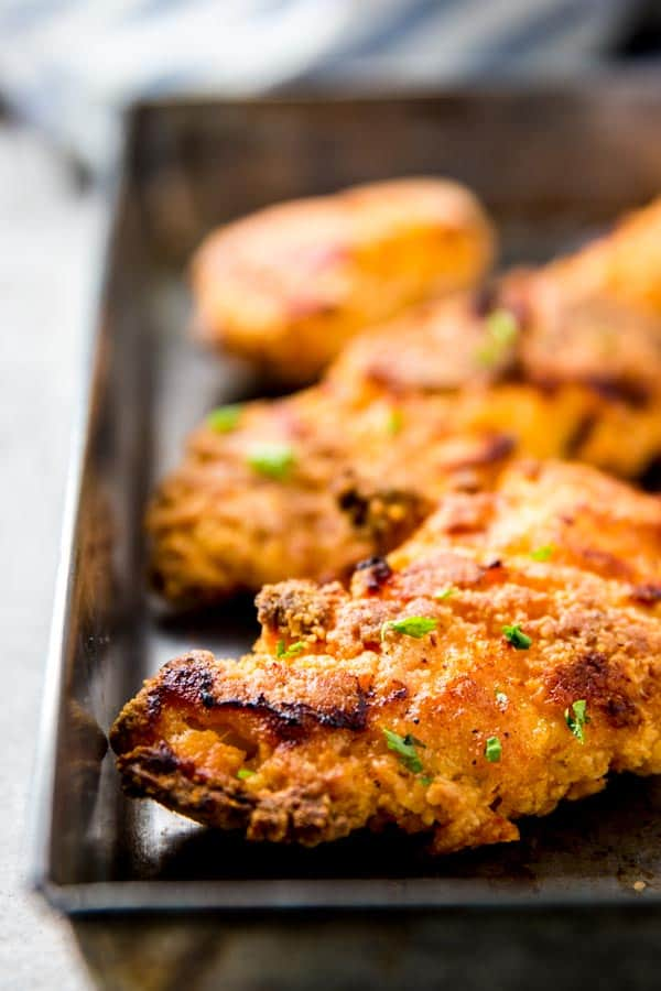 Truly Crispy Buttermilk Oven Fried Chicken | Savory Nothings