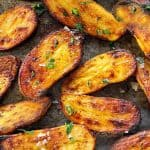 close up photo of roasted fingerling potatoes