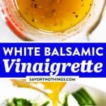 White Balsamic Vinaigrette Image Pin