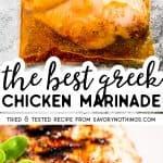 Greek Chicken Marinade Pin Image