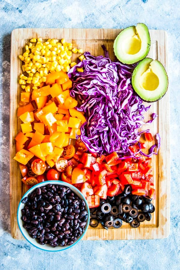 ingredients for chicken taco salad