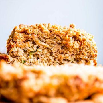 sliced cinnamon crunch zucchini bread