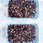 two freezer containers with black beans