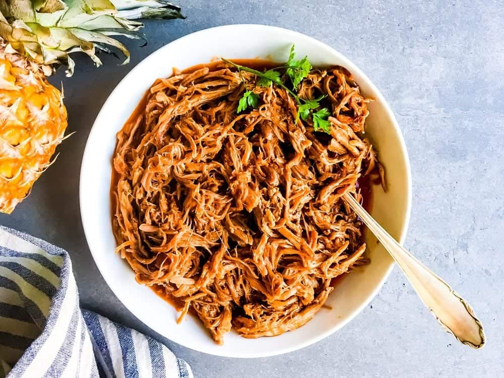 Slow Cooker Pineapple BBQ Pulled Pork | Savory Nothings