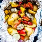sausage and potato foil packet