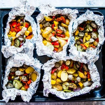 Sausage and Potato Foil Packets Image TK