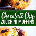 Chocolate Chip Zucchini Muffins Pin Image 1