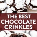 Chocolate Crinkle Cookies Image Pin