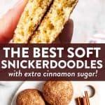 Easy Snickerdoodle Cookies Pin 1