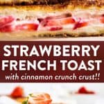 Strawberry French Toast Image Pin