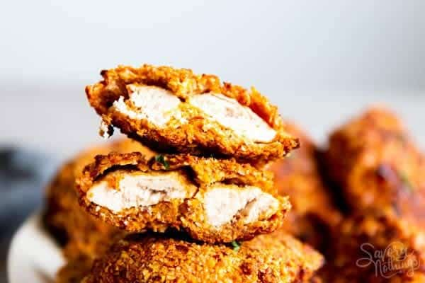 cut up cornmeal oven fried chicken