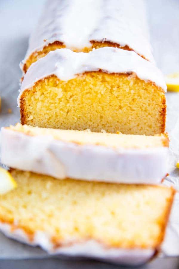 close up photo of lemon pound cake