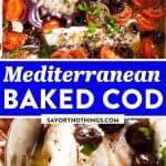 Mediterranean Baked Cod Image Pin