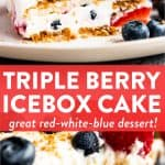 collage of icebox cake photos with text overlay