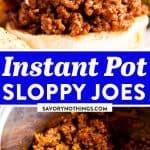 Instant Pot Sloppy Joes Image Pin