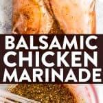 Balsamic Chicken Marinade Image Pin 1