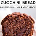 Healthy Double Chocolate Zucchini Bread Pin 2