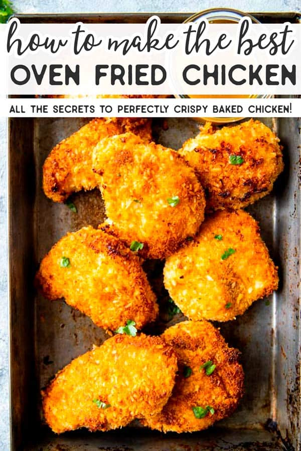 How to Make Oven Fried Chicken Pin 1