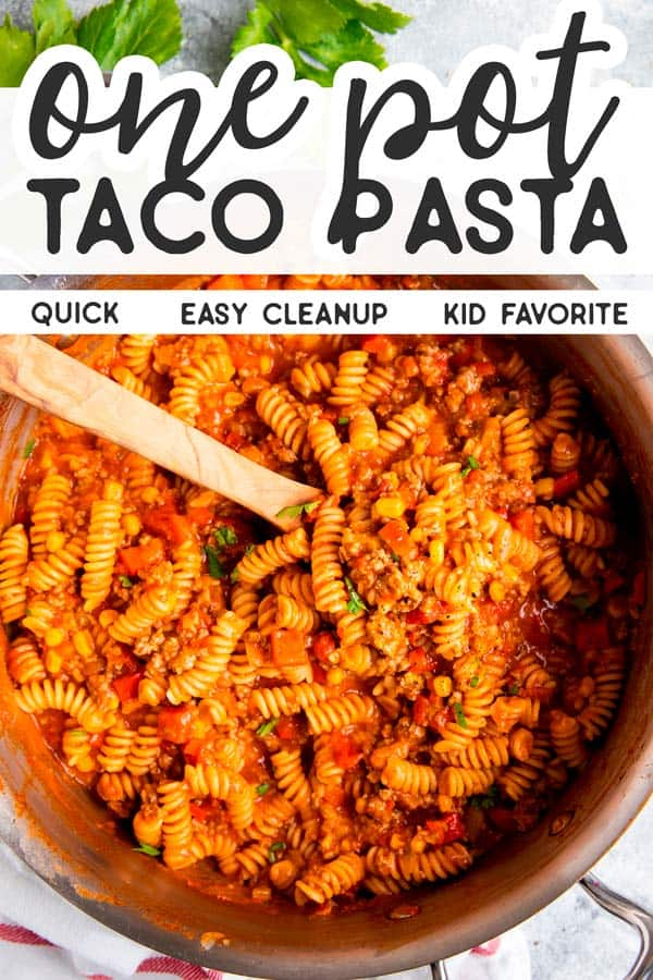 One Pot Taco Pasta Pin 2