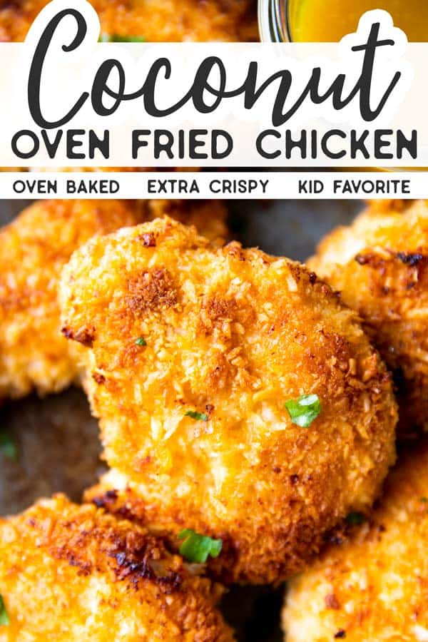 Oven Fried Coconut Chicken Pin 1