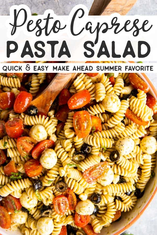Pesto Pasta Salad Pin 1