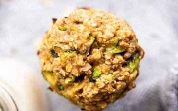 top down close up photography of zucchini oatmeal cookies