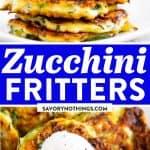 Zucchini Fritters Image Pin