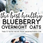 Blueberry Overnight Oats Pin