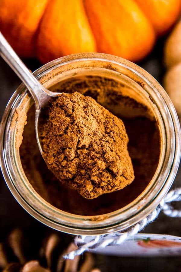 spoonful of pumpkin spice mix