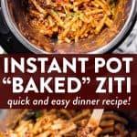 Instant Pot Baked Ziti Pin 1