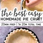 Easy Homemade Pie Crust from Scratch Pin 1