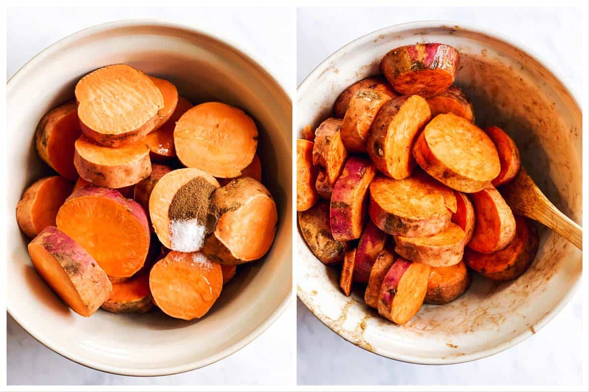 steps to show seasoning sweet potatoes