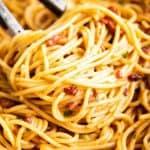 close up photo of spaghetti carbonara