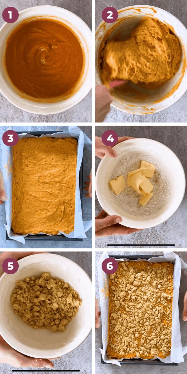 Pumpkin Coffee Cake Step by Step Image