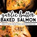 Garlic Butter Baked Salmon Image Pin
