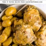 Instant Pot Bacon Ranch Chicken and Potatoes Pin
