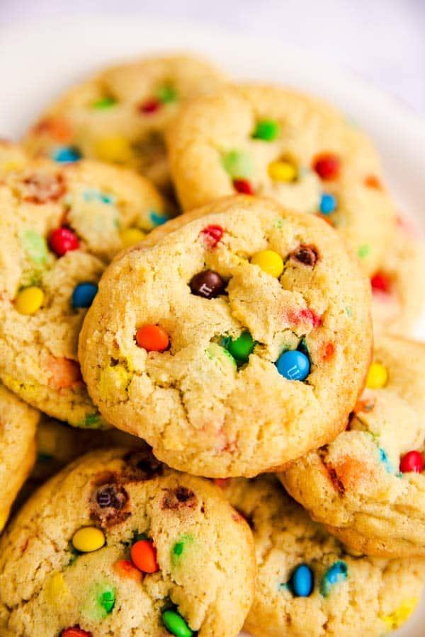 pile of M&M cookies