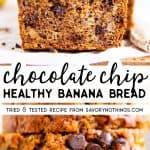 Chocolate Chip Banana Bread Image Pin