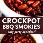 Crockpot BBQ Little Smokies Image Pin 1