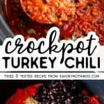 Crockpot Turkey Chili Image Pin