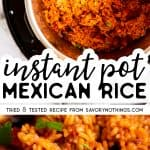 Instant Pot Mexican Rice Image Pin