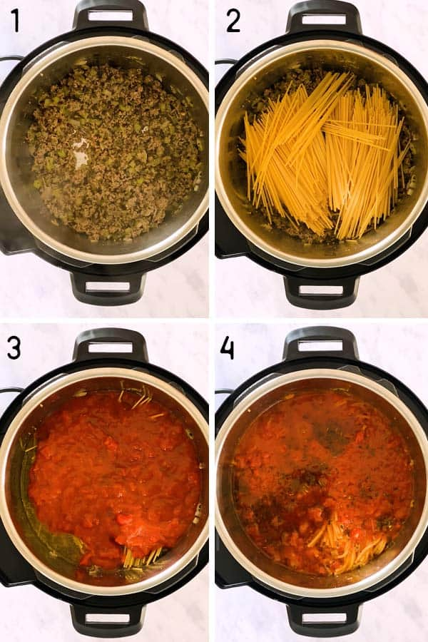 Instant Pot Spaghetti and Meat Sauce Photo Step by Step