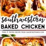 Southwestern Baked Chicken Image Pin