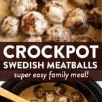 Crockpot Swedish Meatballs Image Pin 1